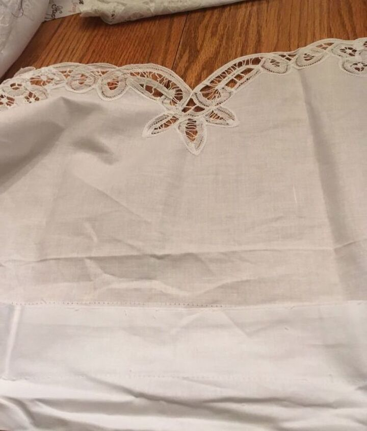 no sew bed skirt made from purchased valances