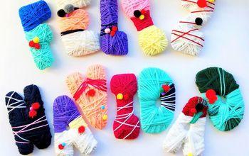 festive yarn letters