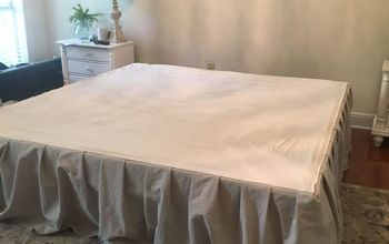 diy bed skirt no sew dropcloth