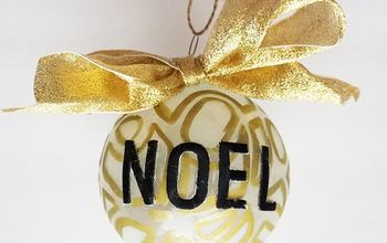 Etched Glass Gold Swirl Ball Ornament