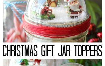Christmas Gift: Mason Jar With Snow Globe Topper