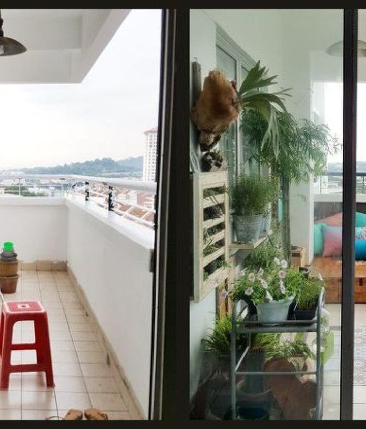 s my bohemian balcony makeover built a mini de, BEFORE