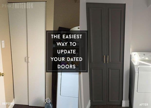 the easiest way to update a flat panel door