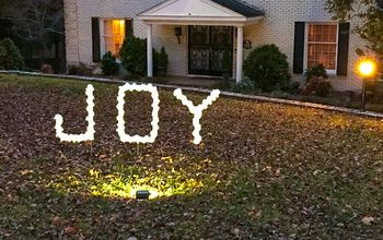 Joy PVC Sign: DIY Outdoor Christmas Decoration