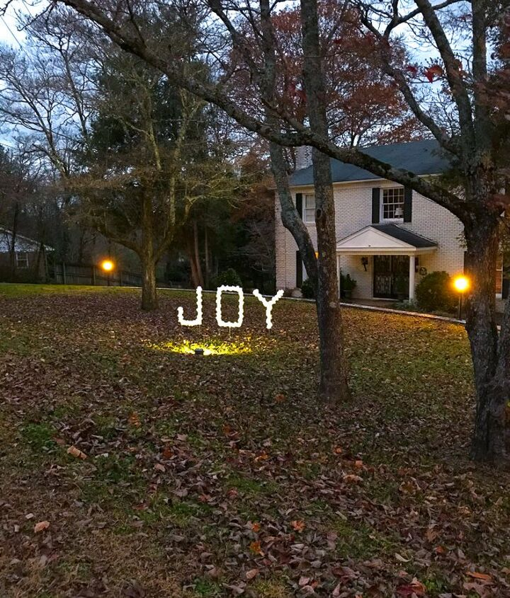 joy pvc sign diy outdoor christmas decoration