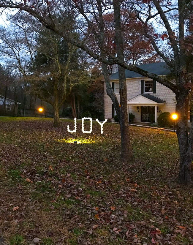 joy pvc sign diy outdoor christmas decoration