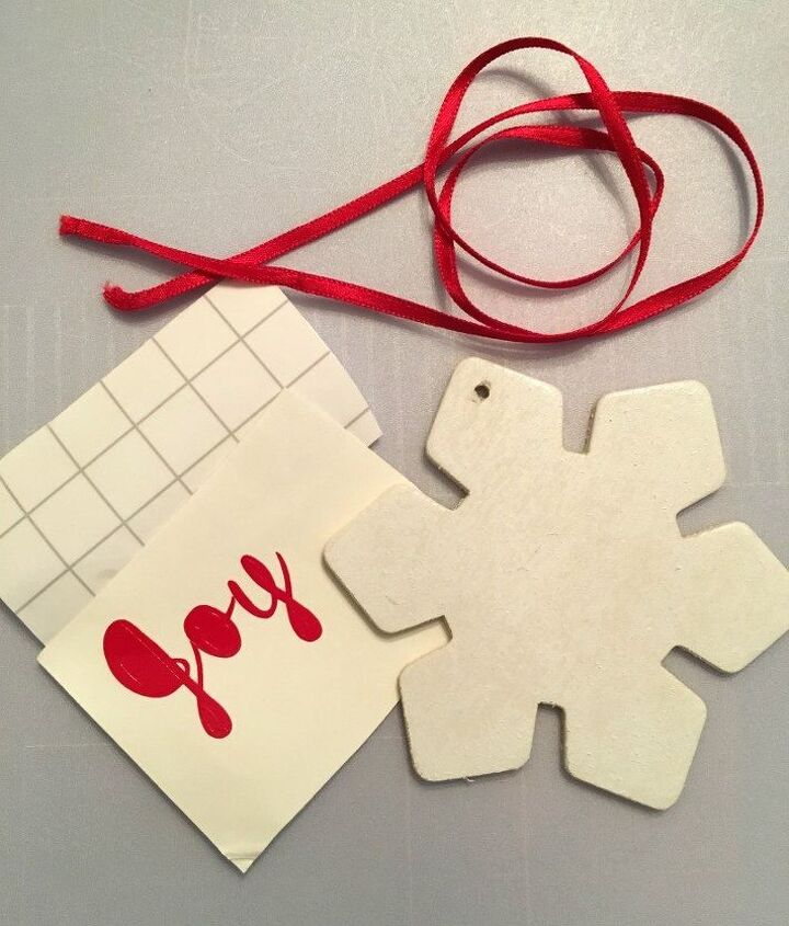 painted snowflake ornament