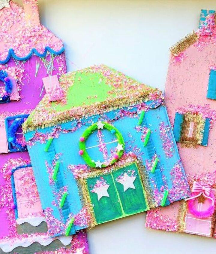 diy cardboard christmas village