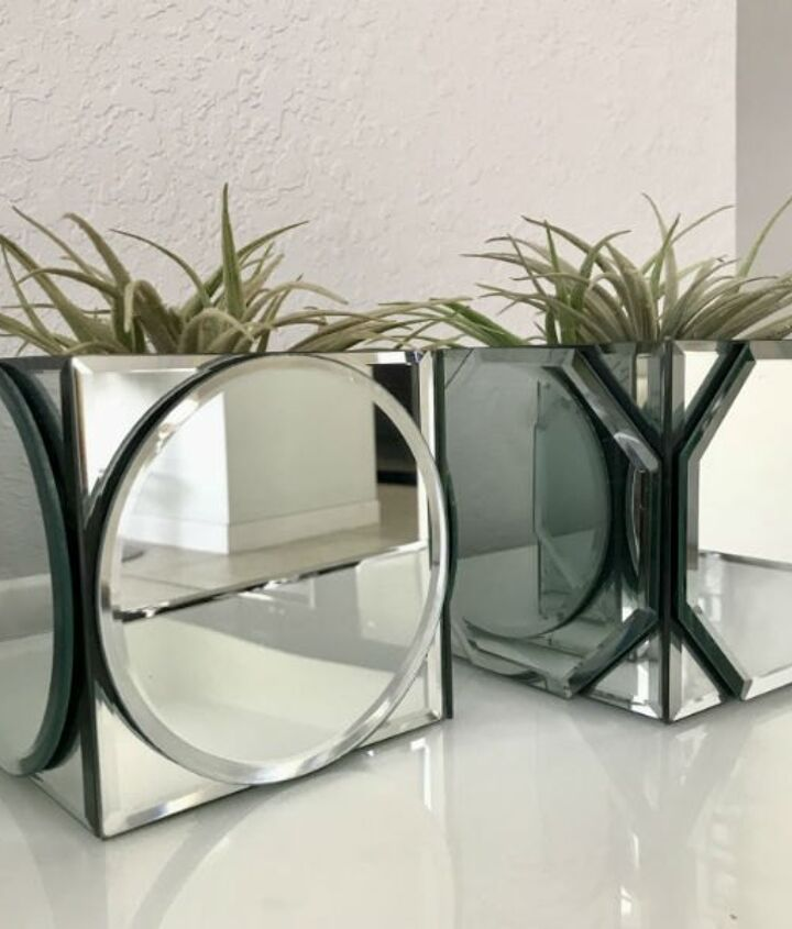 dollar tree mirrored centerpieces diy project
