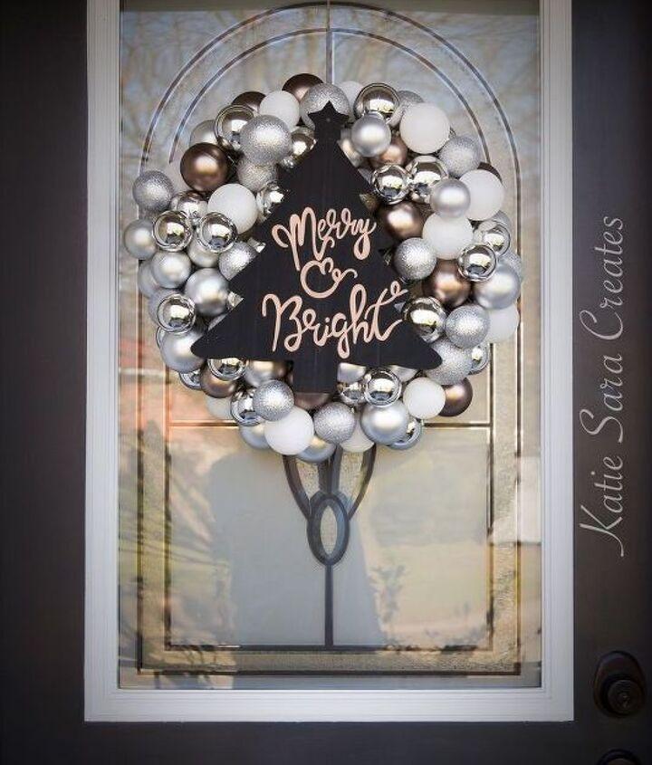 diy easy christmas ornament wreath