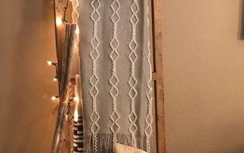 blanket ladder christmas ladder