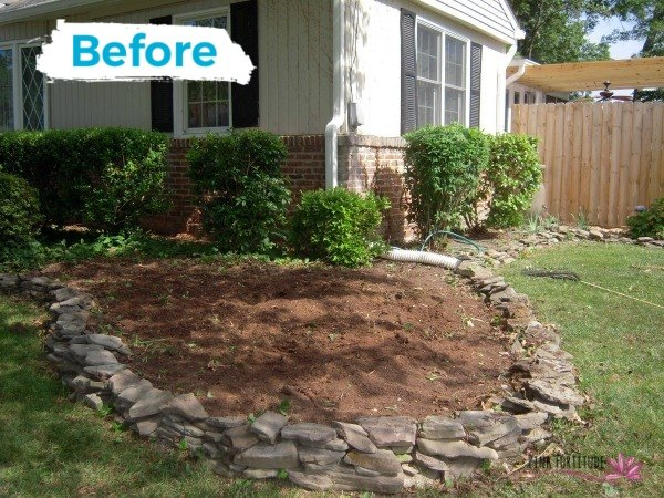from dirt patch to charming conversation space
