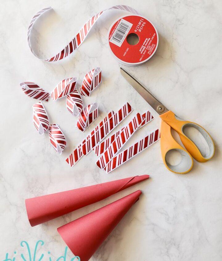 easy diy ribbon trees