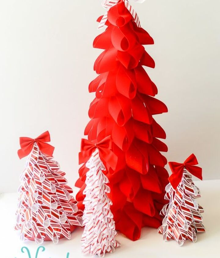 easy diy ribbon trees