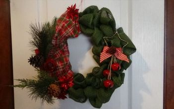 christmas burlap wreath needed