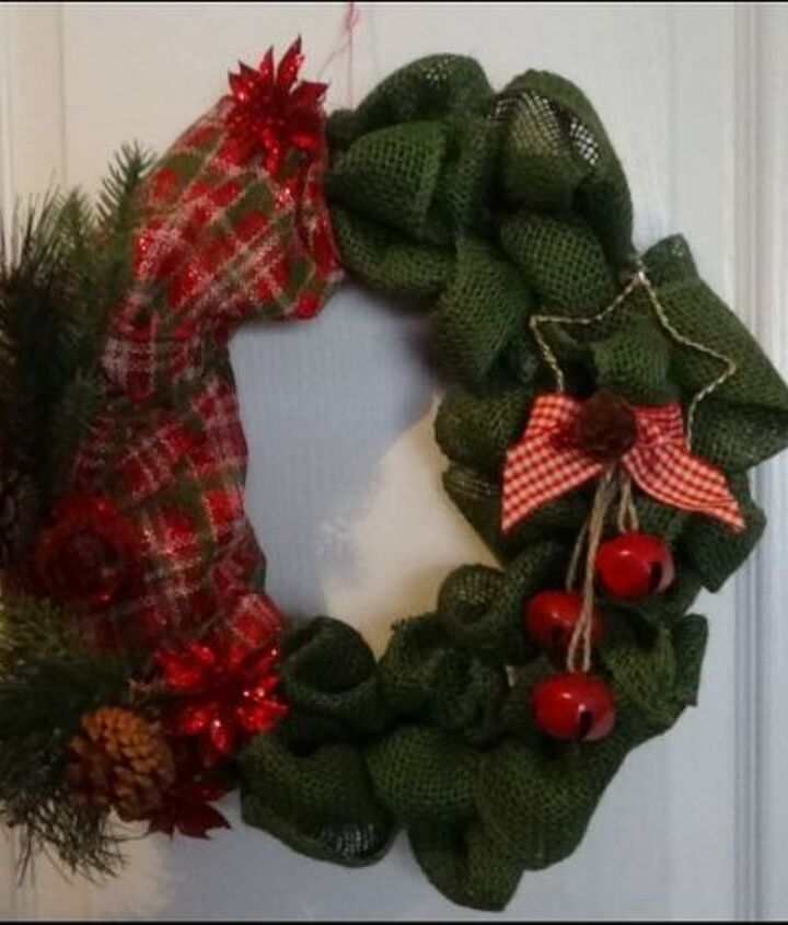 christmas burlap wreath needed