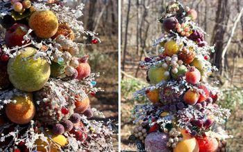 Bead-and-Glitter Fruit Tree