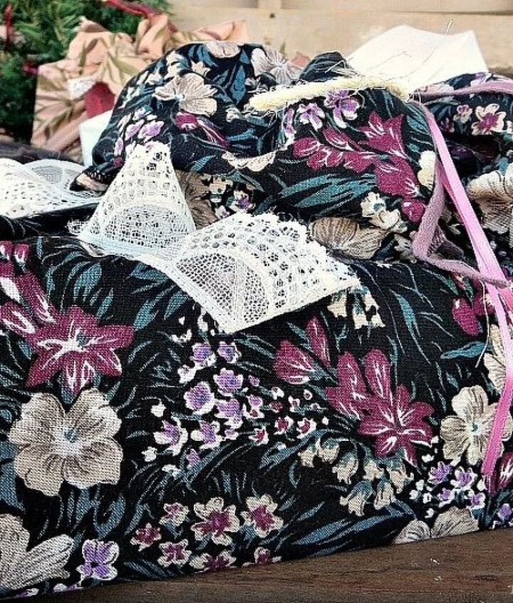 how to make your gift wrapping look extra special with fabric