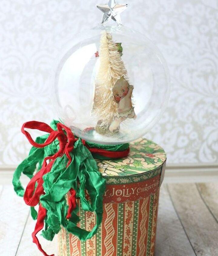 snow globe diy gift box for christmas holidays