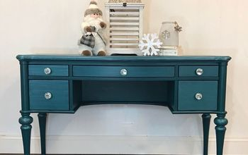 upcycled vanity desk