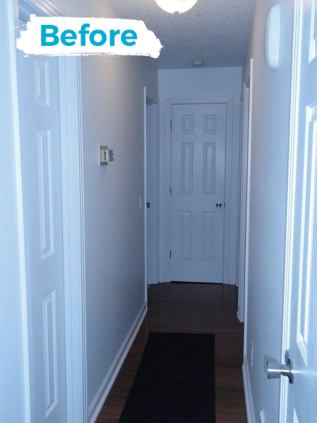 Plain white hallway--boring!!