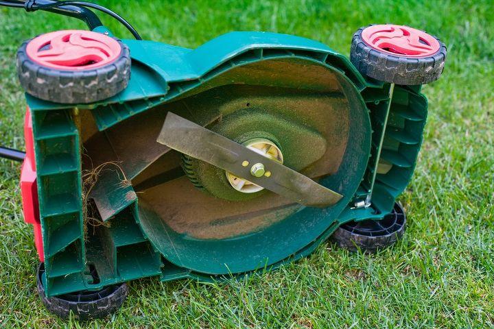 q how to sharpen lawn mower blades