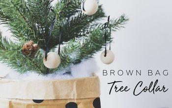 How to Make a Brown Bag Christmas Tree Skirt