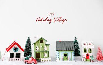 How to Make a DIY Christmas Village