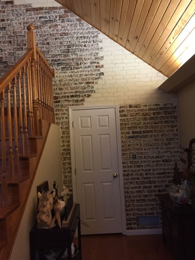 making a faux brick wall with sheetrock plaster