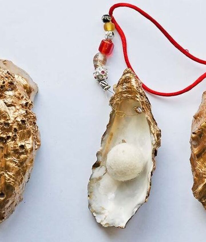 glamorous oyster shell ornament in 15 mins