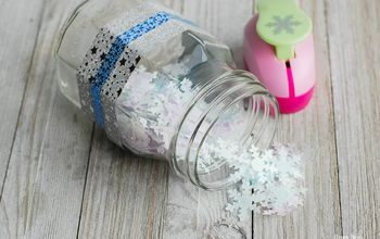diy snowflake bath confetti easy diy gift idea