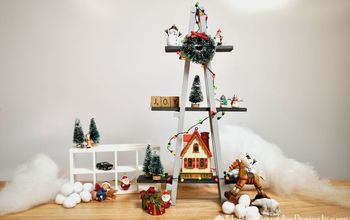 Mini Wood A-Frame Ladder Alternative Christmas Tree