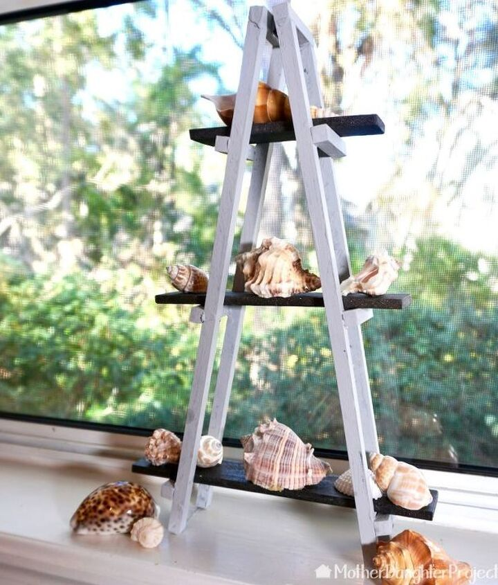 how to make a mini wood a frame ladder alternative christmas tree