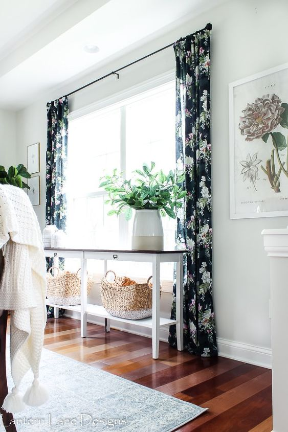 diy no sew curtains and how to fake a pinched pleat
