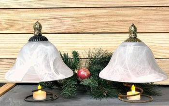 easy repurposed globe christmas trees