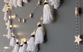 how to make the easiest diy tassel garland ever