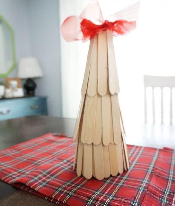 popcicle stick christmas tree
