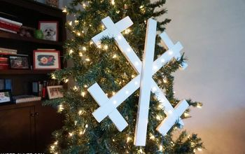 How to Make a LIGHTED Wooden Snowflake!