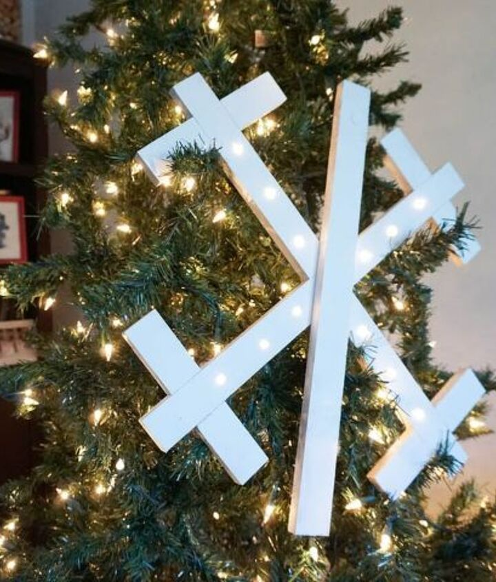 how to make a lighted wooden snowflake