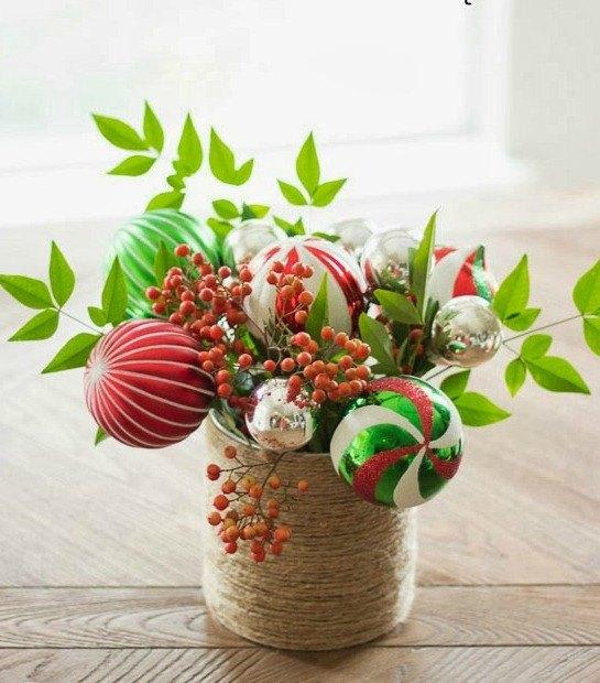 christmas ornament bouquet