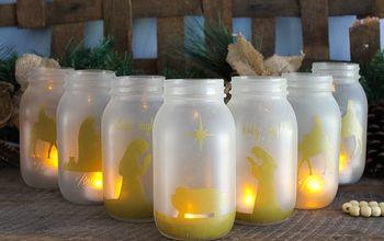 Christmas Jars: A Glowing Nativity Scene