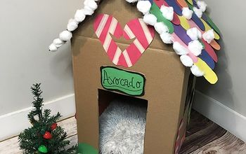 DIY Cardboard Gingerbread Cat House