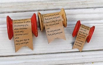 Wooden Spool and Christmas Song Ornament