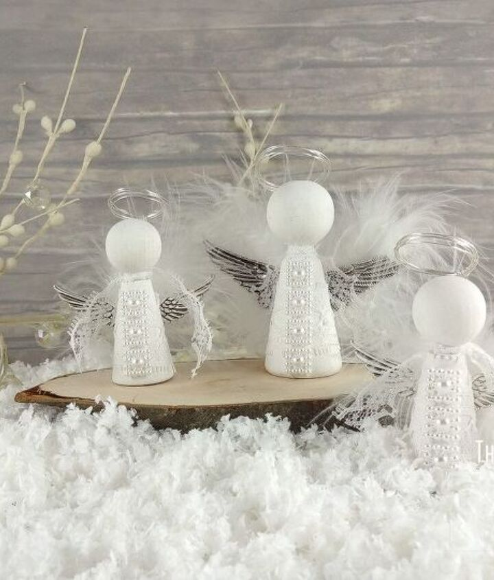 little wooden christmas angels