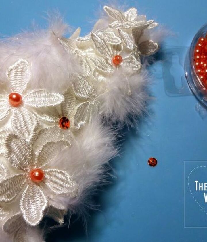 lace and feather christmas tree