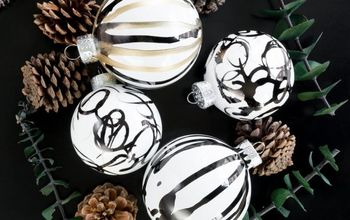 diy abstract alcohol ink ornaments