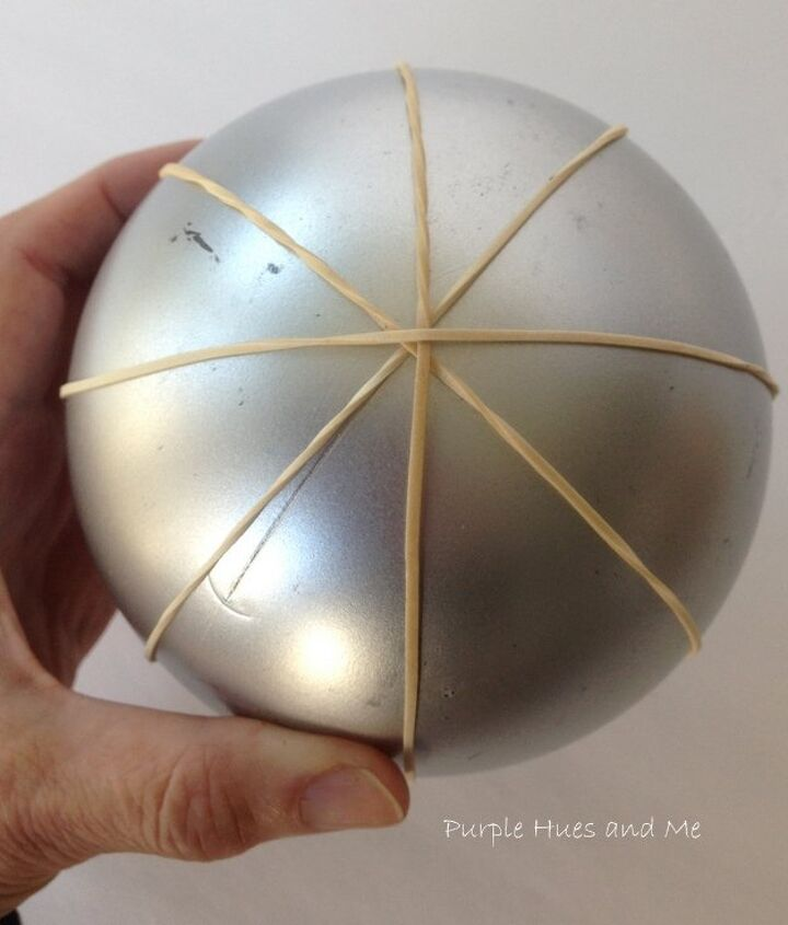 how to transform a plain dollar store ornament