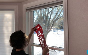 transform your plain windows for the holidays with this clever trick