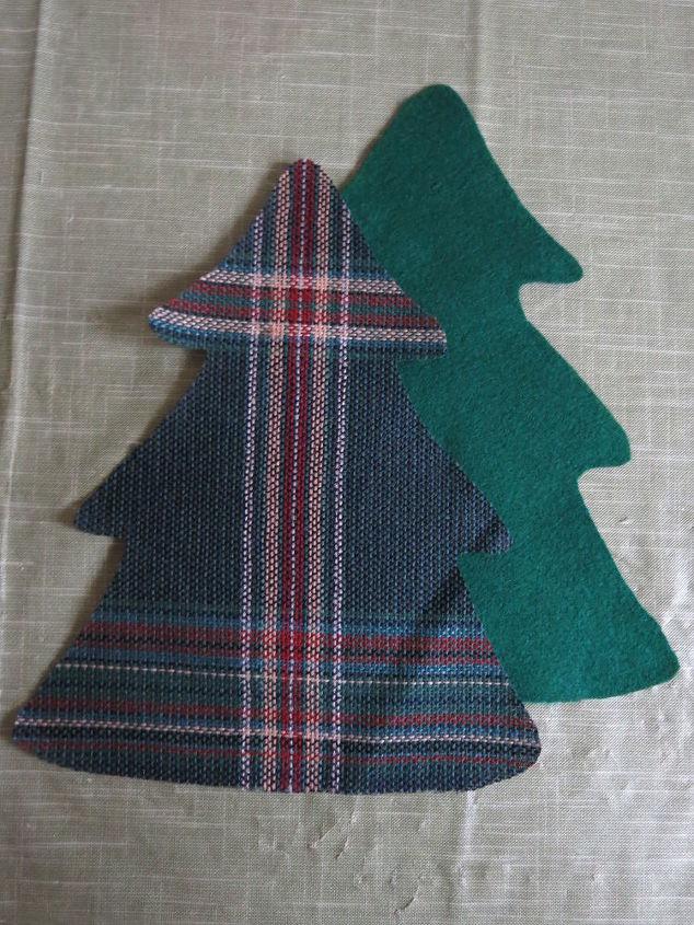 A Christmas Arrangement.Scrap Fabric Trees To Make A Christmas Arrangement Hometalk