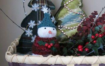Scrap Fabric Trees To Make a Christmas Arrangement